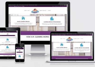 screenshot of a client's website